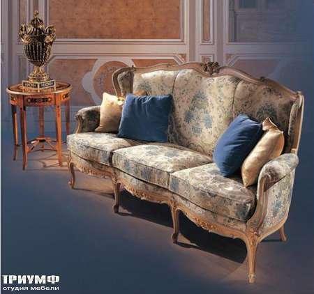 Итальянская мебель Ezio Bellotti - Диван в ткани с деревом