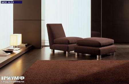 Итальянская мебель CTS Salotti - Кресло с пуфом без подлокотников, модель Alex