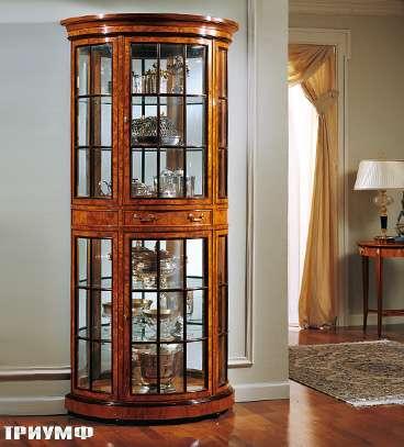 Итальянская мебель Colombo Mobili - Витрина английская полукруглая в английском стиле арт.121 кол.Pergolesi