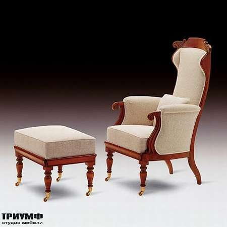 Итальянская мебель Medea - Кресло арт. 540, пуф арт. 539