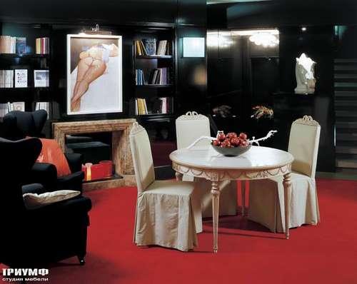 Итальянская мебель Salda - Стол обеденный круглый    COD; 8516  / стул  cod 8483