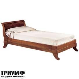 Итальянская мебель Morelato - Односпальная кровать на фигурных ножках