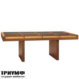 Итальянская мебель Morelato - Стол с декоративными отсеками под стеклом