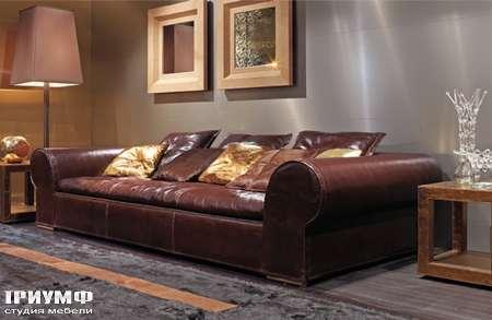 Итальянская мебель Love Luxe (Longhi) - Диван глубокий в коже Gold