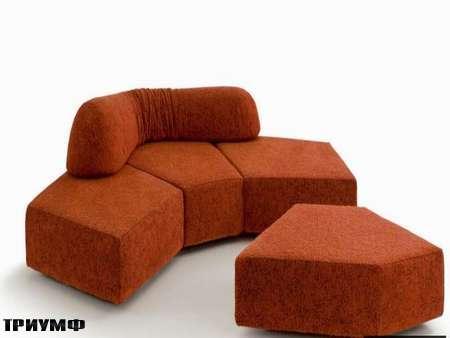 Итальянская мебель Edra - диван On the rocks