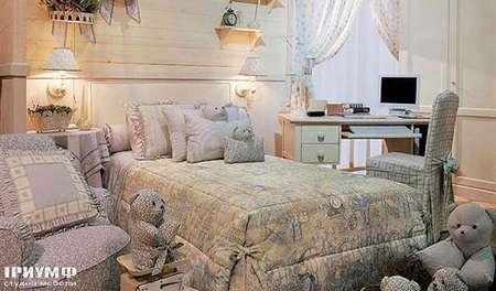 Итальянская мебель Halley - Butterfly кроватка с комплектом текстиля