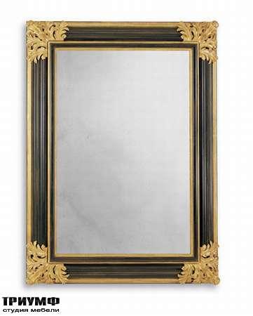 Итальянская мебель Chelini - Зеркало в черной рамке арт.1114