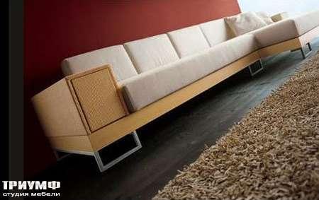 Итальянская мебель Rattan Wood - Диван плетенный с лежанкой Lounge 64LR