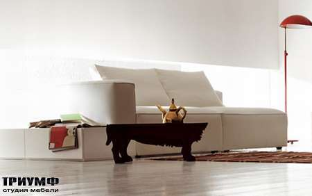 Итальянская мебель Pianca - Диван модерновый Insieme в ткани