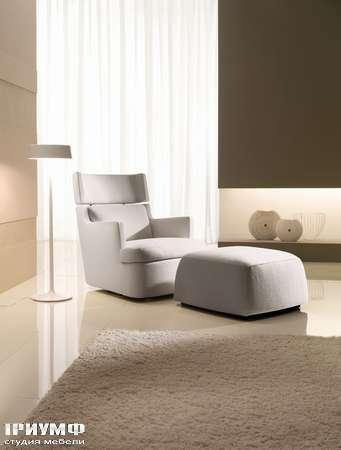 Итальянская мебель CTS Salotti - Кресло с пуфом ортопедическое, модель Hall
