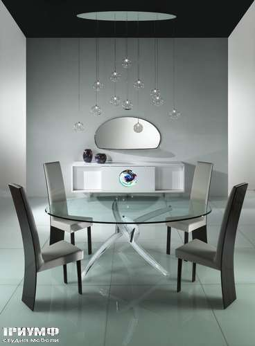 Итальянская мебель Reflex Angelo - Стеклянный стол Arlequin