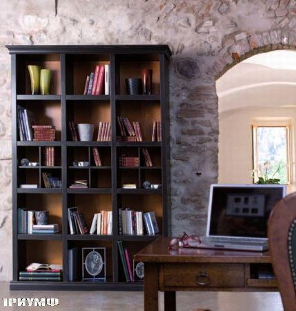 Итальянская мебель Tonin casa - стеллаж открытый из массива