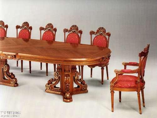 Итальянская мебель Citterio Fratelli - Стол овальный с инкрустацией и радикой