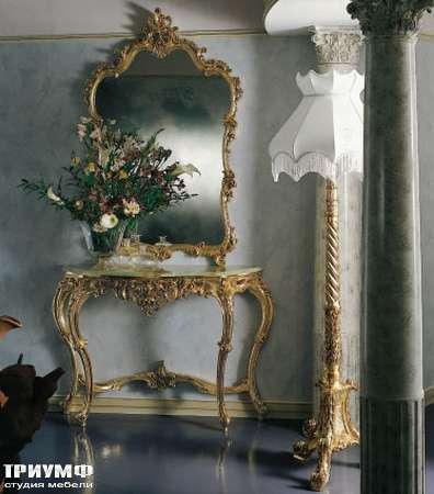 Итальянская мебель Silik - Консоль с мраморным топом