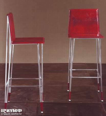 Итальянская мебель Rugiano - Барный стул Yuki металл, кожа