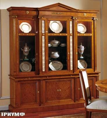 Итальянская мебель Colombo Mobili - Витрина в имперском стиле арт. 324 кол. Corelli