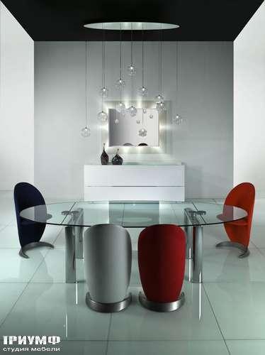 Итальянская мебель Reflex Angelo - Полукресло Petalo и стол Policleto