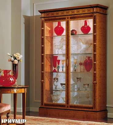 Итальянская мебель Colombo Mobili - Витрина в имперском стиле арт.128 кол. Pergolesi