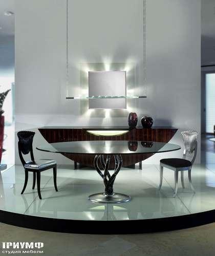 Итальянская мебель Reflex Angelo - Стол стеклянный круглый  с базой из муранского стекла