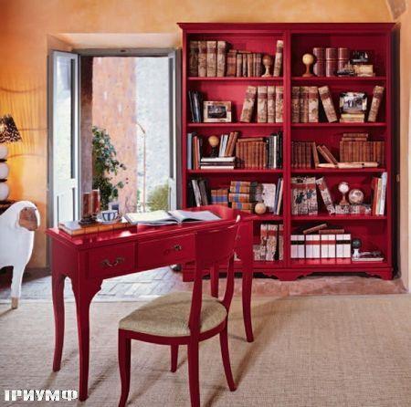 Итальянская мебель Tonin casa - стол письменный с ящиками крашенной дерево