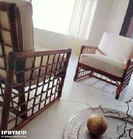 Итальянская мебель Rattan Wood - Кресло B-d