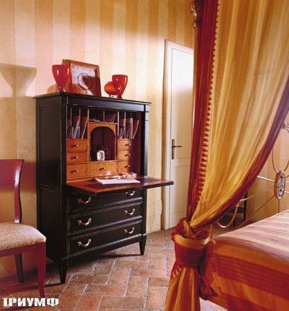 Итальянская мебель Tonin casa - шкаф секретер, массив дерева