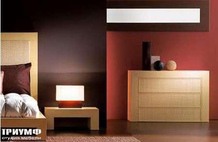 Итальянская мебель Rattan Wood - Комод с 3 ящиками Kemp