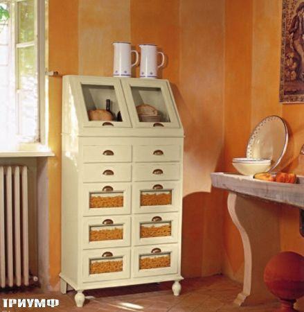 Итальянская мебель Tonin casa - комод с отделениями для продуктов из массива