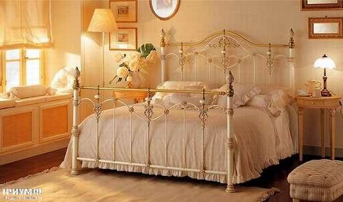 Итальянская мебель Giusti Portos - Спальня белая с золотом Luxor