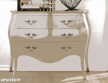 Итальянская мебель Flai - комод в серебре ардеко372