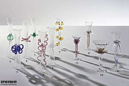 Итальянская мебель Driade - Предметы из стекла