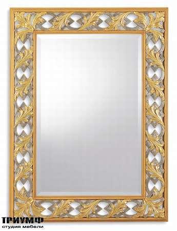 Итальянская мебель Chelini - Зеркало прямоугольное с рельефом арт. 514/GG