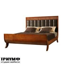 Итальянская мебель Morelato - Кровать-ладья с изголовьем в коже