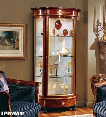Итальянская мебель Colombo Mobili - Витрина полукруглая неоклассика арт.263 кол. Pergolesi