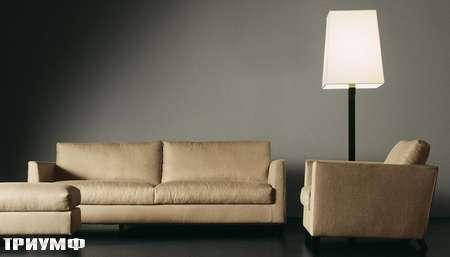Итальянская мебель Meridiani - диван Bisset new, ткань хлопок