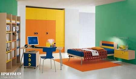 Итальянская мебель Julia - Стеллаж и кровать, smail