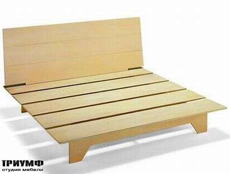 Итальянская мебель Rattan Wood - Кровать Ecologico вид без матраса