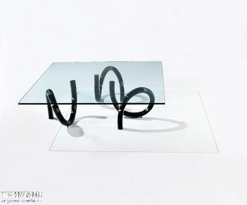 Итальянская мебель Reflex Angelo - Стол журнальный квадратный epsilon nero