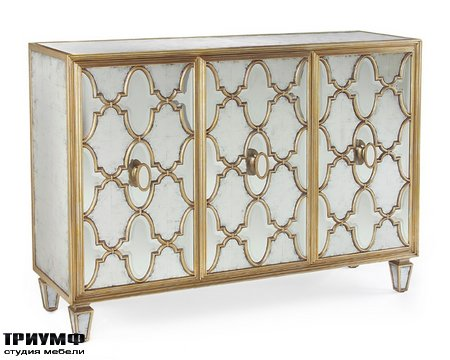 Американская мебель John Richard - Michelle Three Door Cabinet in Venetian Silver