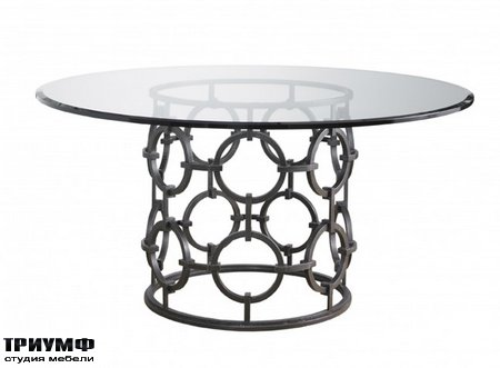 Американская мебель Lillian August - Seaton Dining Table with Glass Top