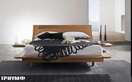 Итальянская мебель Presotto - кровать Aqua-2 в дереве 2