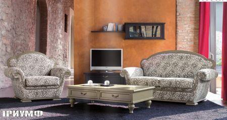 Итальянская мебель Tonin casa - диван в ткани с орнаментом