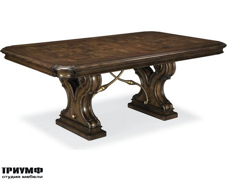 Американская мебель Thomasville - Bibbiano Trestle Dining Table