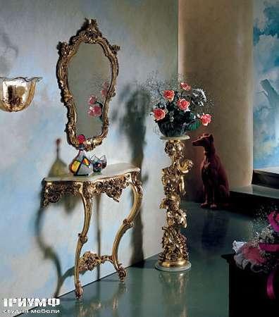 Итальянская мебель Silik - Подставка под цветы в золоте