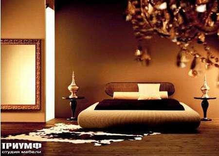 Итальянская мебель Rattan Wood - Кровать Goethe