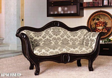 Итальянская мебель Tonin casa - диван двухместный с основой из дерева