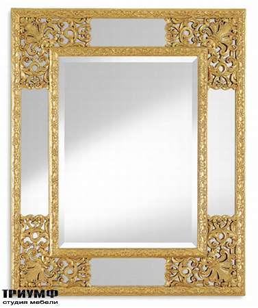 Итальянская мебель Chelini - Зеркало прямоугольное золотое арт. 843