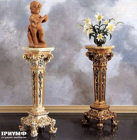 Итальянская мебель Silik - Подставка цветочная в дереве