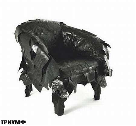 Итальянская мебель Edra - кресло Leather Works
