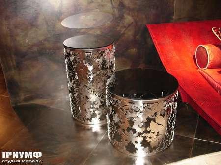 Итальянская мебель Rugiano - Столики декоративные в металле